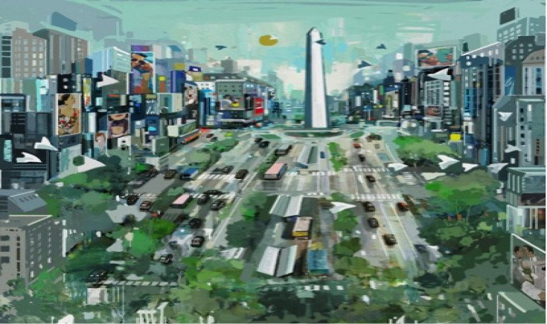 Pintura ciudad buenos aires