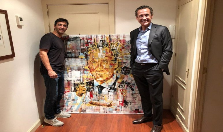 Andres Mariani y Jorge Valdano