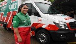 Del teléfono al volante: la primera mujer conductora de SAME
