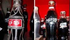 Desde hace 40 años colecciona las botellas de Coca-Cola más extrañas