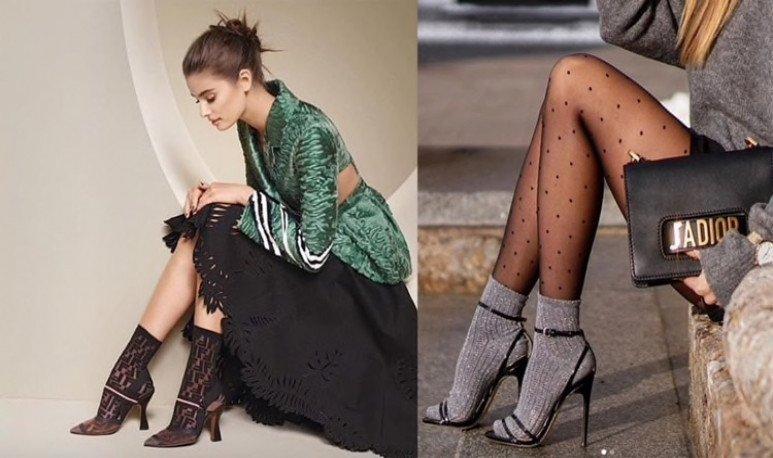 sandalias con medias - moda