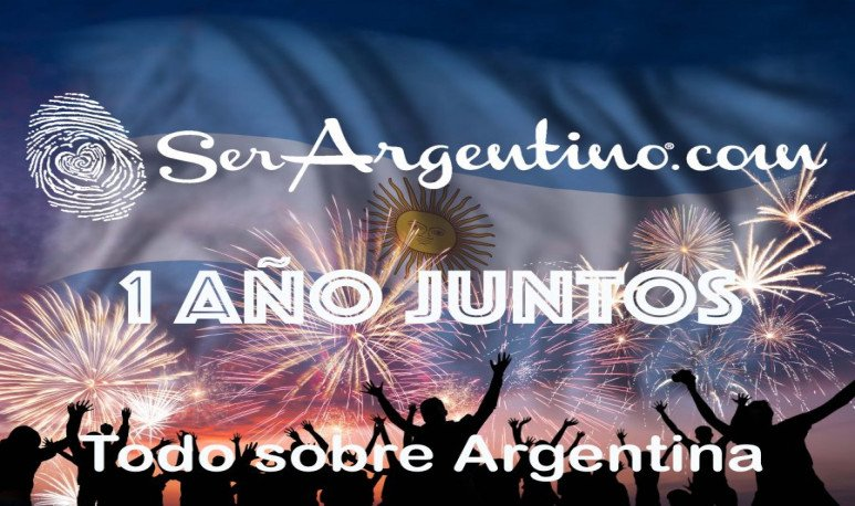 People are looking on fireworks and flag of Argentina