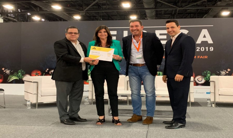 Mendoza recibió un premio