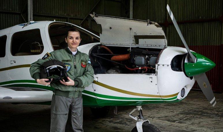 La misionera que vuela alto en Gendarmería