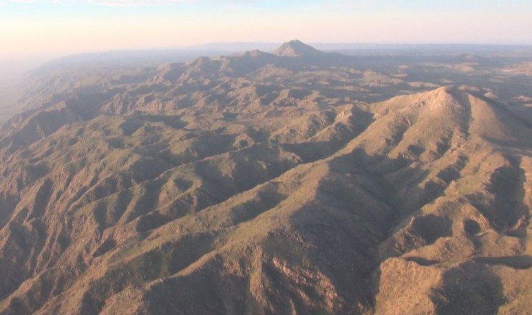 volcanes de pocho desde el aire