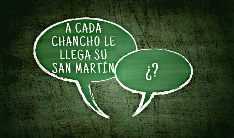 A cada chancho le llega su San Martín