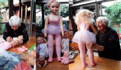 Una madre que perdió a su hija logró transformar el pesar reparando juguetes para los niños misioneros