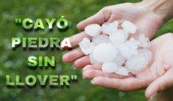 ¿Alguna vez viste caer piedra sin llover?
