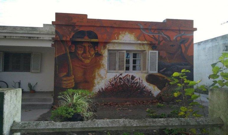 mural en una casa de pipinas