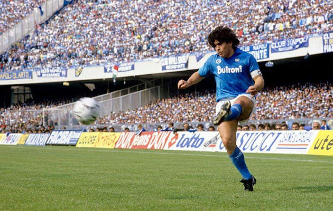 Maradona en Nápoles