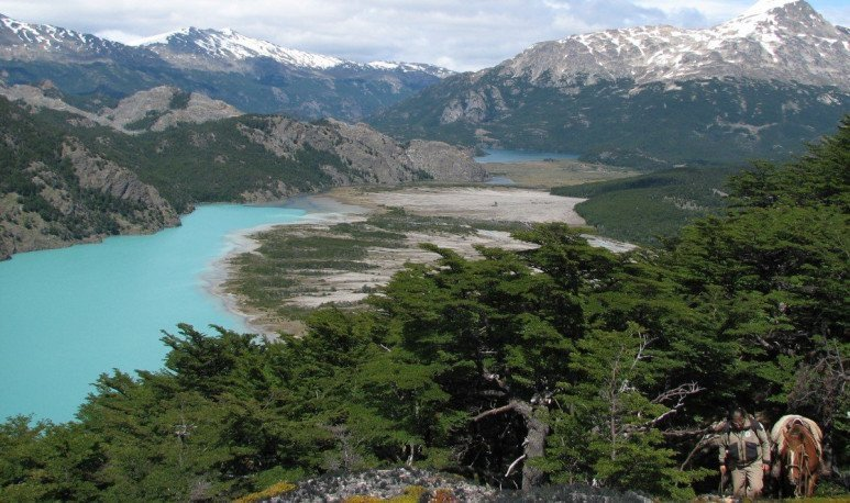 Parque Patagonia Argentina, northwest of Santa Cruz, has a constant entry of tourists so far this year