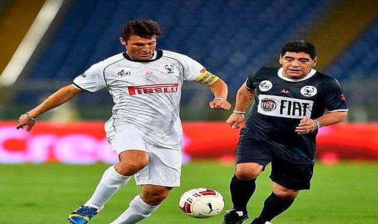 Maradona and Zanetti