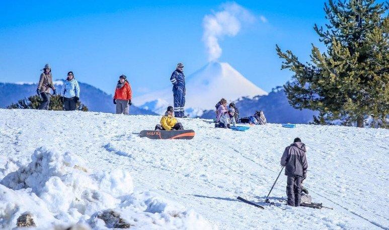 A snow park in Villa Pehuenia