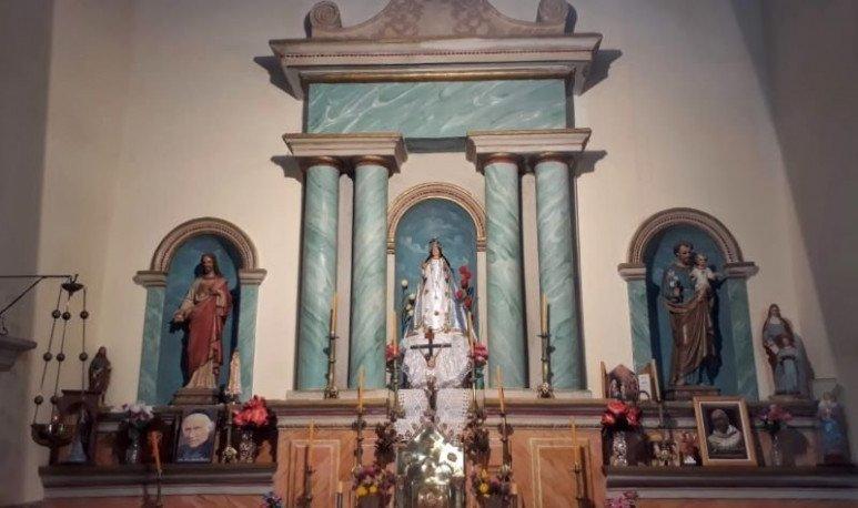 CHURCH OF FUERTE BURNT