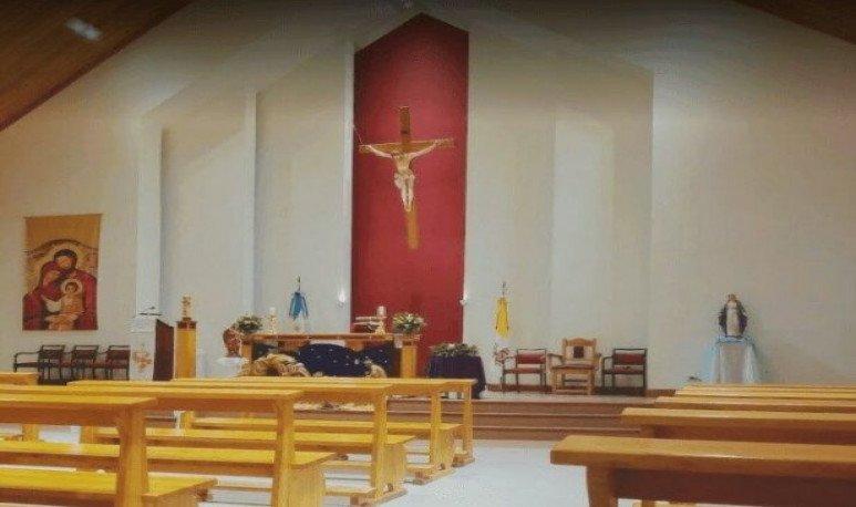 Interior de la iglesia mas austral del continente