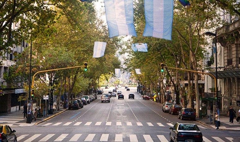 Avenida de Mayo en Buenos Aires