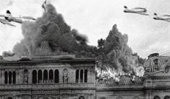 Bombas sobre Plaza de Mayo