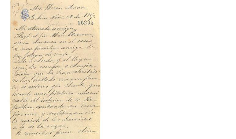 Carta Sarmiento - Mary Mann